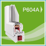P 604A PVC Pencere ve Kapı Sistemleri