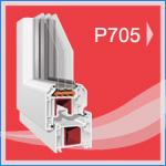 P 705A PVC Pencere ve Kapı Sistemleri